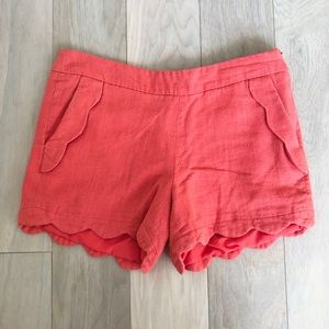 Cynthia Rowley Coral Colored Shorts Size 4